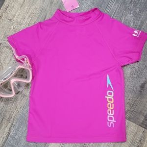 Speedo girls size 5/6 UV swim shirt